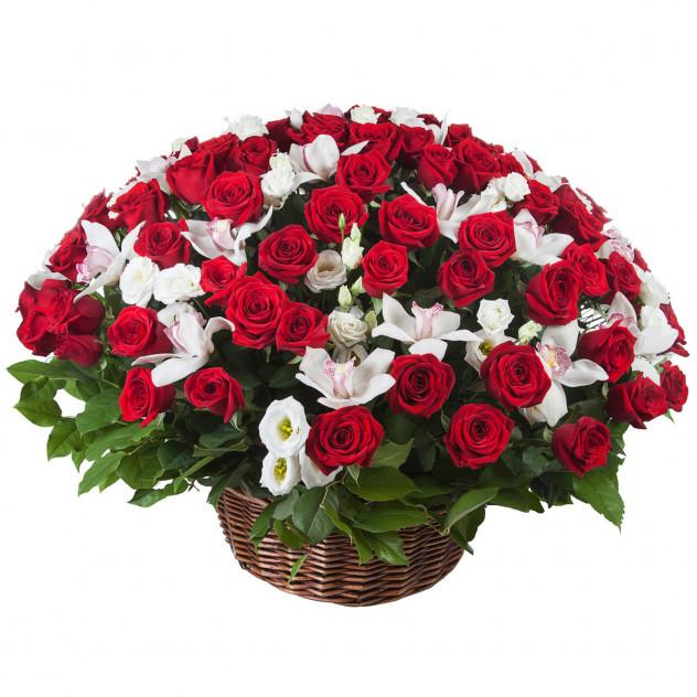 Корзина с розами